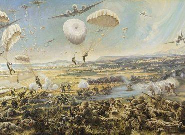 Ζωγραφικός πίνακας της Μάχης της Κρήτης στο Ρέθυμνο